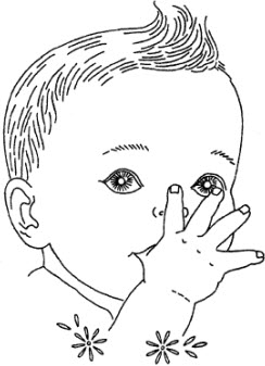 Freebie: Baby Faces embroidery pattern