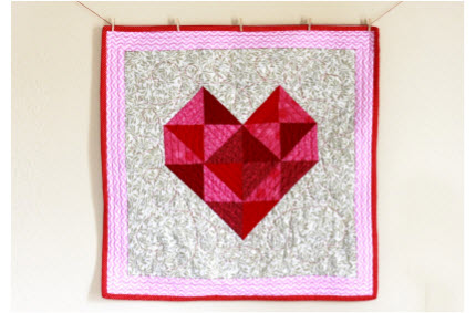 Heart Mini Quilt Craftbuds