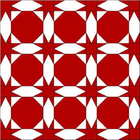 free pattern B Brackman Red White