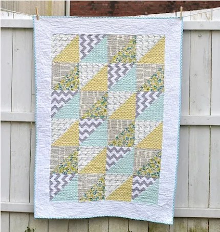 triangles baby quilt craft buds