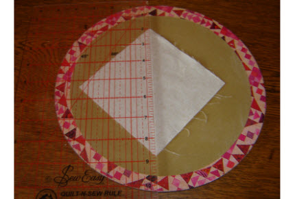 cork placemat for cutting triangles