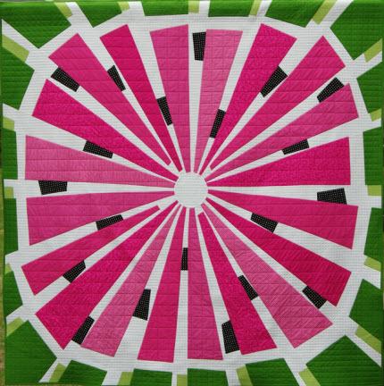 Ta Dah!: Watermelon wedge quilt