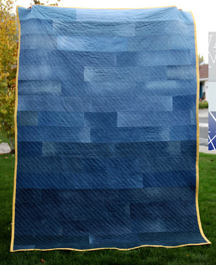 Tutorial Ombre Denim Quilt Quilting