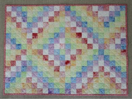 shaving foam painted fabric quilt tutorial