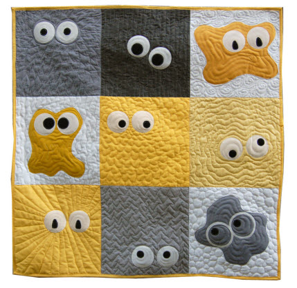 monster quilt pattern googly eyes