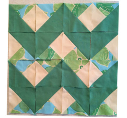 scraps repurposed into chevron