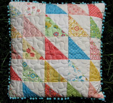 Patchwork pillow for baby