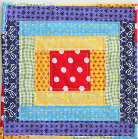 Rainbow Mini Quilt Tutorial Crafty Mummy