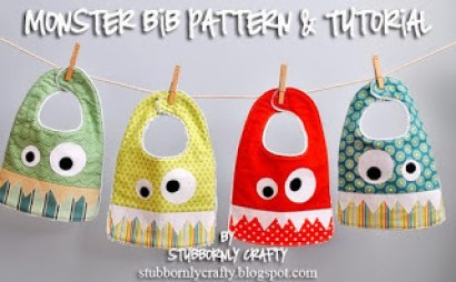 quilted monster bib