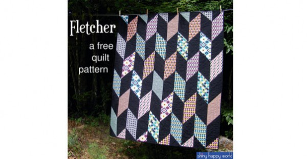 Fletcher Free Quilt Pattern Shiny Happy World