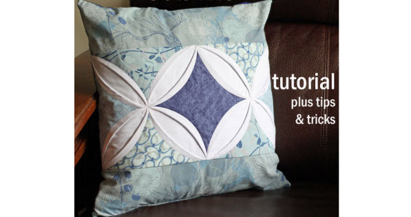 Tutorial Cathedral Window Pillow Cover Quilting