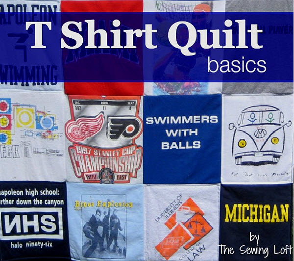 T Shirt quilt tutorial