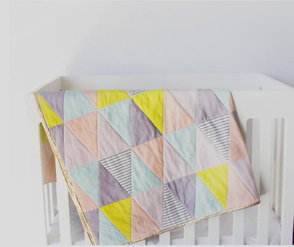 Triangle quilt Spoonflower Cheater See Kate Sew