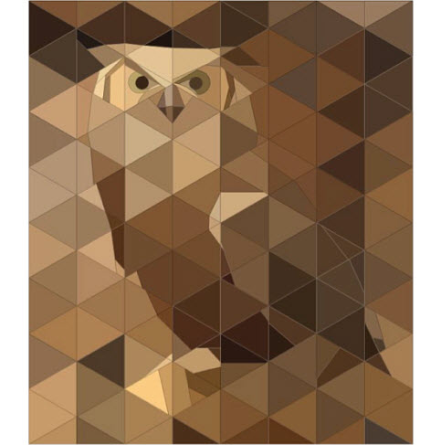 Owl paper pieced pattern