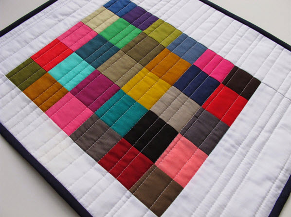 Modern Cozy Mini Quilt Giveaway
