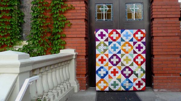 Modern ChurnDash quilt Carla Grace