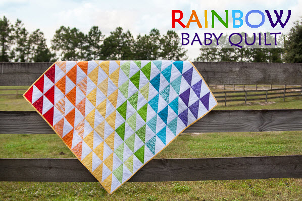 Rainbow Baby Quilt So You Think You Can Craft