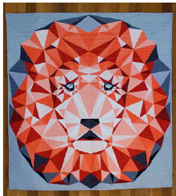 Jungle Abstractions Quilt The Lion Violet Craft