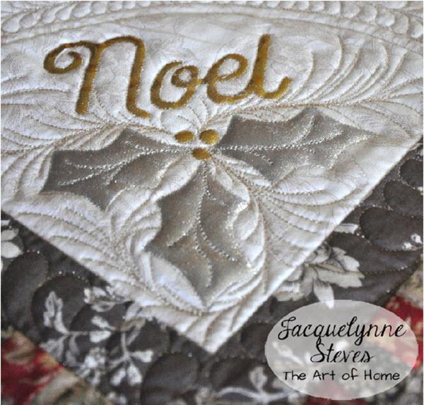 Vintage Noel Mini Quilt JacquelynneSteves