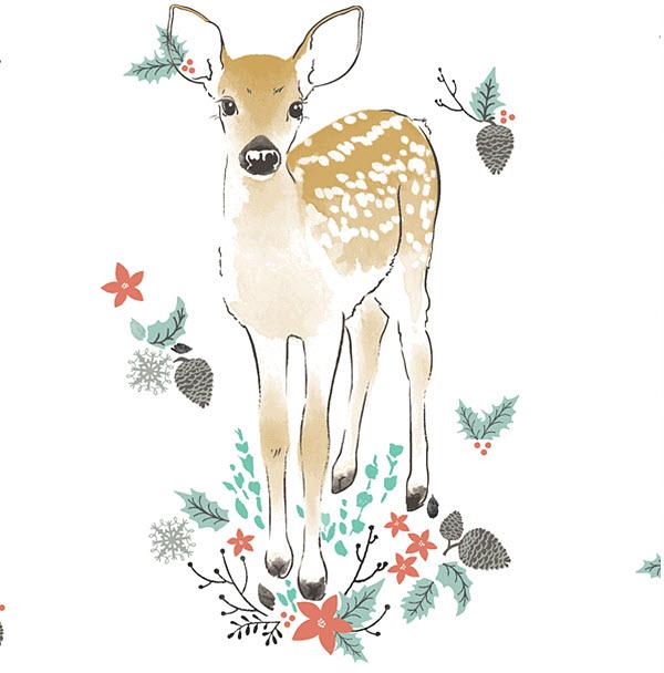 Winter Fawn Digital Fabric Hawthorne Threads