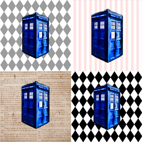Police Box Cheater Cloth
