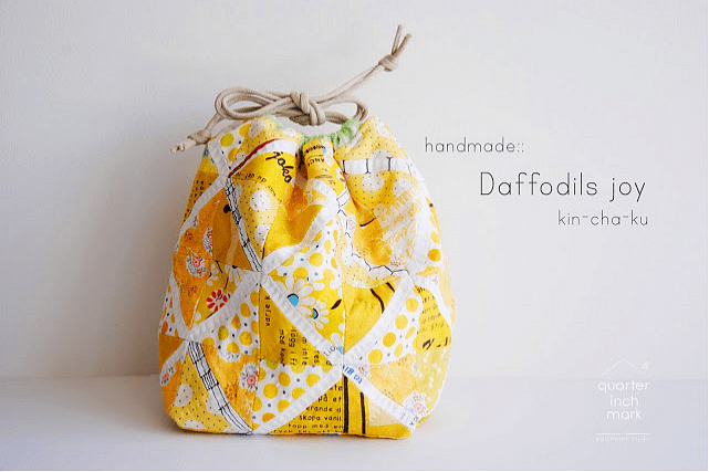 Inspiration: Hand quilted kin-cha-ku bags – Quilting