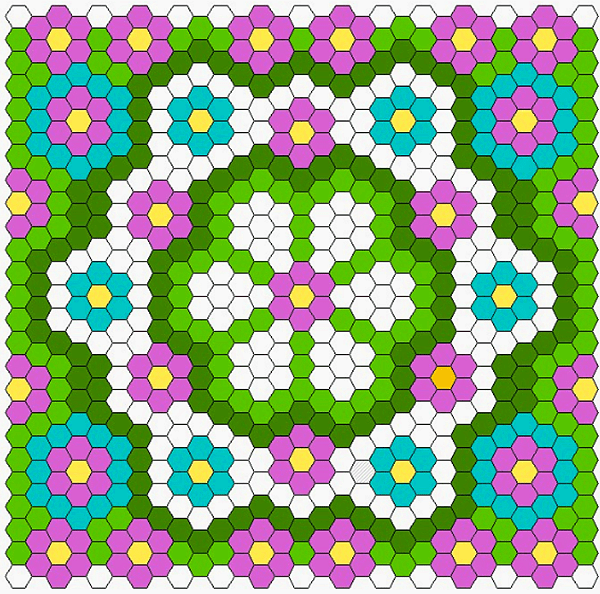 Free diagram: Summer Hexagon Quilt – Quilting : hexagon quilt pattern free - Adamdwight.com