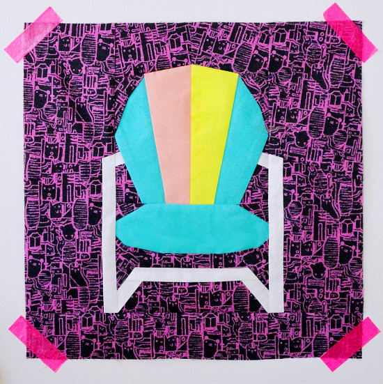 Lawn Chair Quilt Block Free Pattern