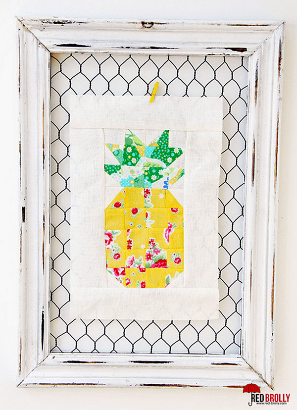 Pineapple Quilt Block Pattern Red Brolly