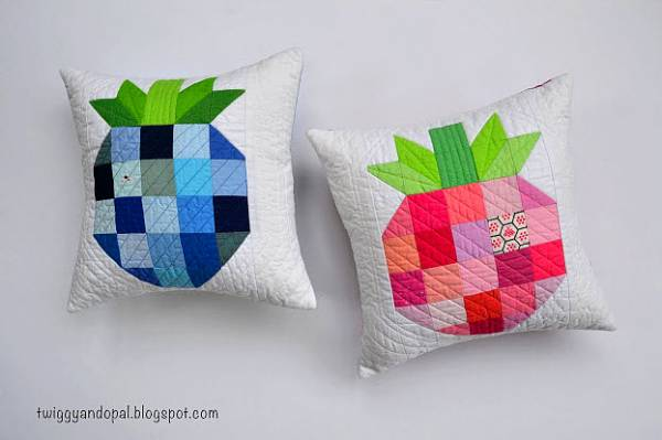 Blueberry and strawberry mini pillows