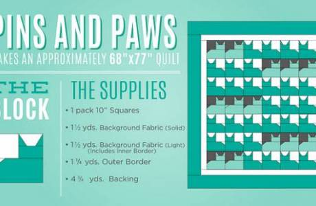 Cat quilt video + Pins and Paws pattern