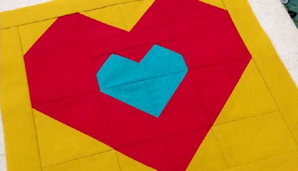 Tutorial Love Within heart block