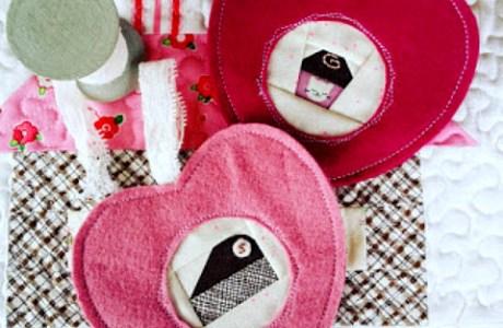 Tutorial: Sweetheart ornaments + free pattern