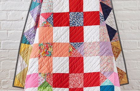 Go big with cross blocks: Liberty crosses quilt tutorial