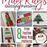 8 Free Quilted Christmas Mug Rug Patterns