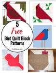 5 Free Bird Quilt Block Patterns