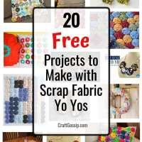 20 Projects to Make With Scrap Fabric Yo Yos