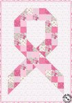 Pink Ribbon Quilt Pattern For Breast Cancer Awareness Month