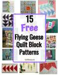 15 Free Flying Geese Quilt Block Patterns