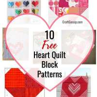 10 Free Heart Quilt Block Patterns