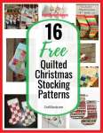 16 Free Quilted Christmas Stocking Tutorials