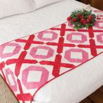 Hugs and Kisses Accuquilt Bed Runner Pattern