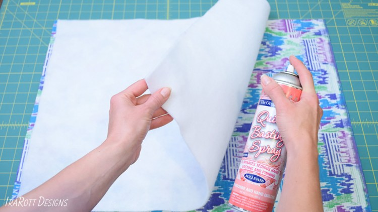 Preparing the fabric and batting layers for quilting