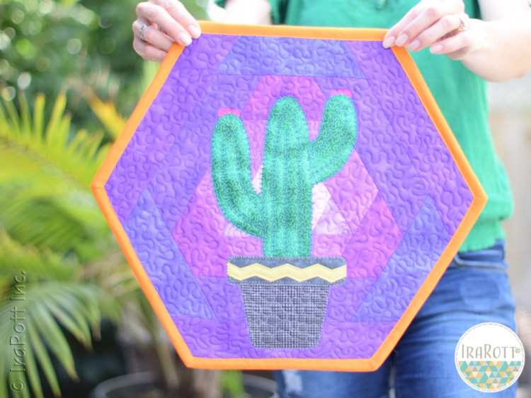 Hexagon Cactus Placemat With 120 Degree Corners