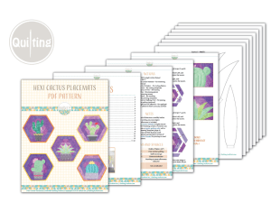 Hexi Cactus Placemats Quilting Pattern By_IraRott