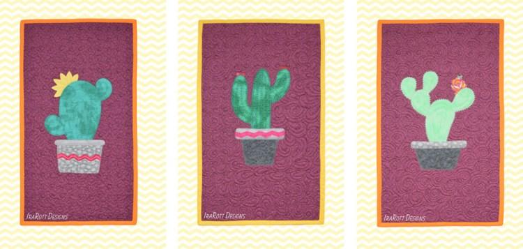 Raw Edge Cactus Applique Designs