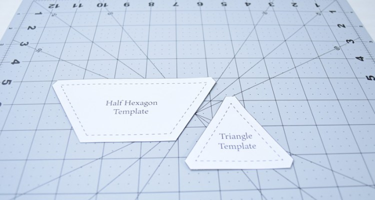 Half Hexagon and Triangle Templates