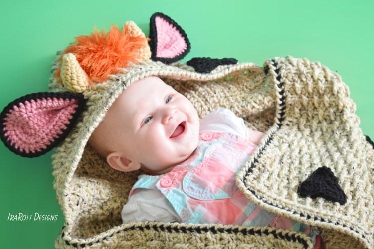 Luna The Moo-Moo Cow Crochet Blanket Pattern by IraRott