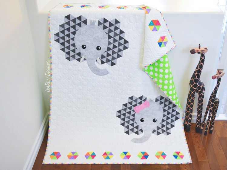 Josefina and Jeffery Elephant Quilt Pattern By IraRott