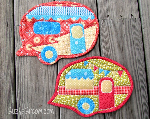 Happy Camper Quilted Pot Holders Quilting Digest